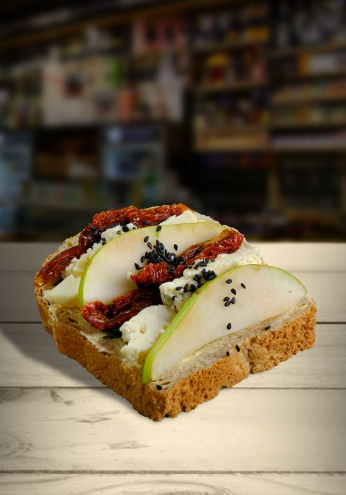 Hruškovo-nivový chlebíček